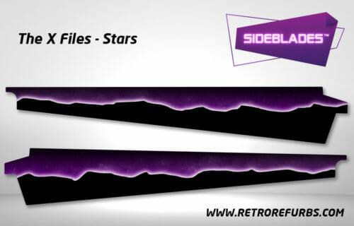 The X Files Stars Pinball SideBlades Inner Inside Art Pin Blades Sega