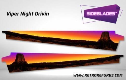 Viper Night Drivin Pinball SideBlades Inner Inside Art Pin Blades Sega