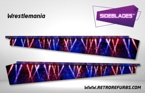 Wrestlemania Pinball SideBlades Inside Decals Sideboard Art Pin Blades