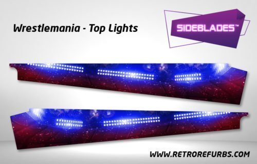 Wrestlemania Top Lights Pinball SideBlades Inside Decals Sideboard Art Pin Blades