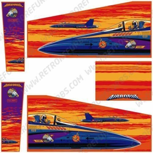 Airborne Alternate Pinball Cabinet Decals Artwork Alternative Flipper Side Art