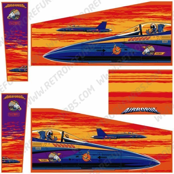 Airborne Alternate Pinball Cabinet Decals Artwork Alternative Flipper Side Art