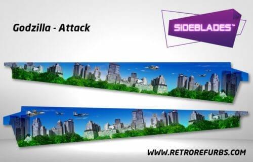 Godzilla Attack Pinball SideBlades Inner Inside Art Pin Blades Sega