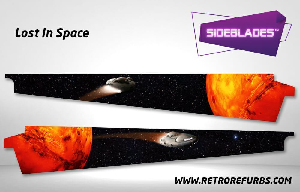 Lost in Space Pinball SideBlades Inner Inside Art Pin Blades Sega