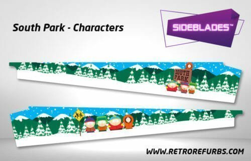 South Park Characters Pinball SideBlades Inner Inside Art Pin Blades Sega