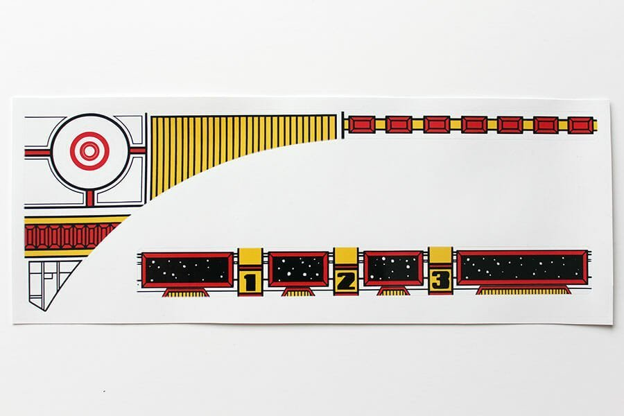 Space Station Pinball Upper Playfield Decals