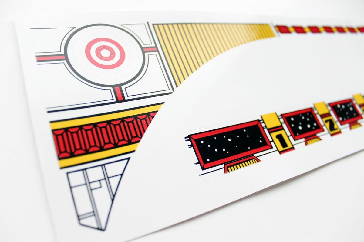 Space Station Pinball Upper Playfield Decals 2