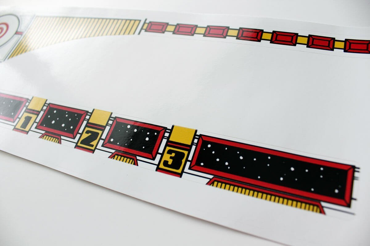 Space Station Pinball Upper Playfield Decals 3
