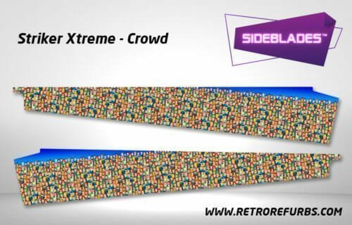 Striker Xtreme Crowd Pinball SideBlades Inside Decals Sideboard Art Pin Blades Stern Artwork