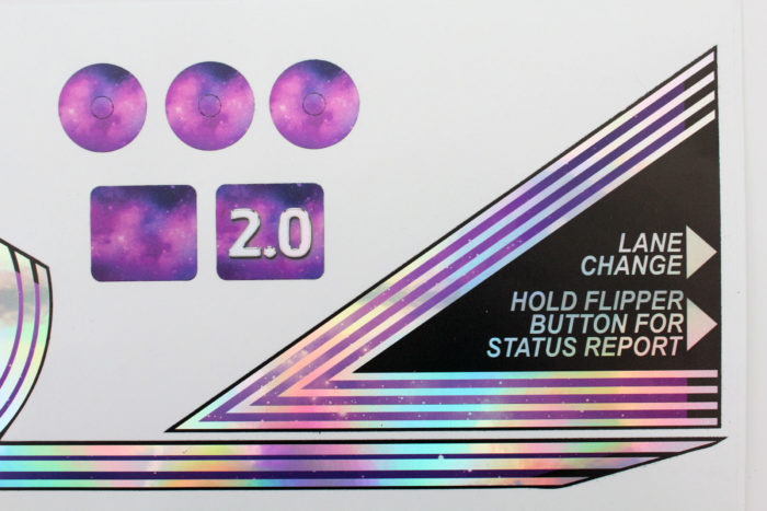 BOP2.0 Bride of Pinbot Pinball Rainbow Chrome Apron Decals Flipper 4