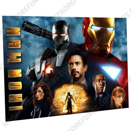 Iron Man Alternate Pinball Translite Alternative Flipper Backglass Stern