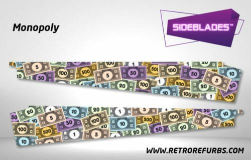 Monopoly Pinball SideBlades Inside Decals Sideboard Art Pin Blades Stern Artwork