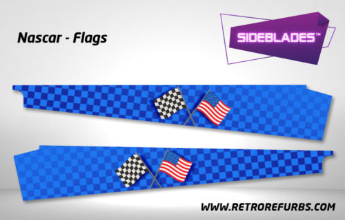 Nascar Flags Pinball SideBlades Inside Decals Sideboard Art Pin Blades Stern Artwork