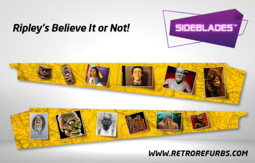 Ripley's Believe It Or Not Pinball SideBlades Inside Decals Sideboard Art Pin Blades Stern Artwork