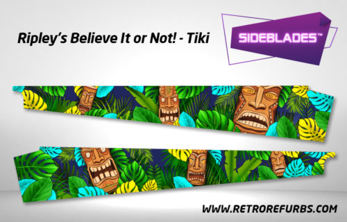 Ripley's Believe It Or Not Tiki Pinball SideBlades Inside Decals Sideboard Art Pin Blades Stern Artwork