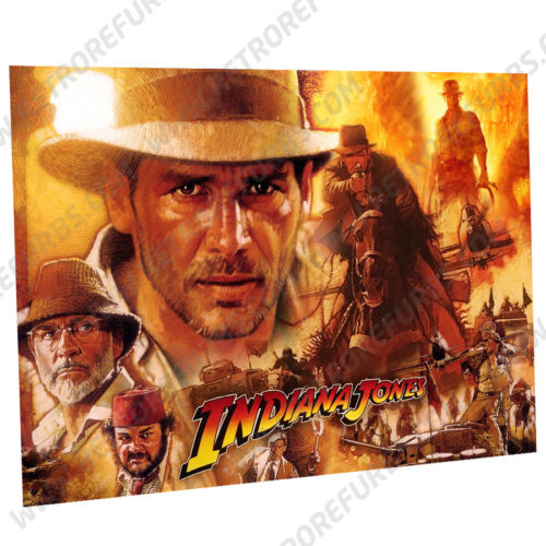 Stern Indiana Jones Alternate Pinball Translite Alternative Flipper Backglass