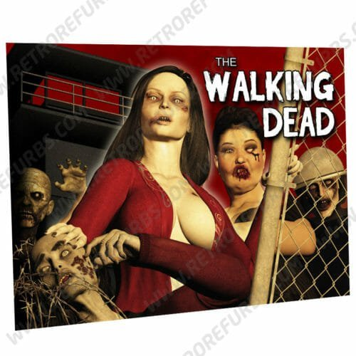 The Walking Dead Zomboobz Alternate Pinball Translite Alternative Flipper Backglass