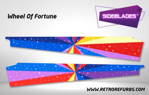 Wheel Of Fortune Pinball SideBlades Inside Decals Sideboard Art Pin Blades Stern Artwork