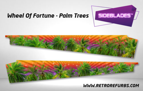 Wheel Of Fortune Palm Trees Pinball SideBlades Inside Decals Sideboard Art Pin Blades Stern Artwork