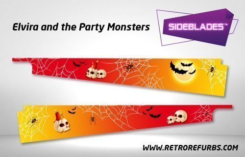 Elvira and The Party Monsters Pinball SideBlades Inside Decals Sideboard Art Pin Blades