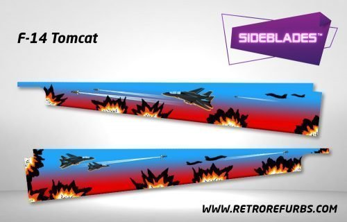 F-14 Tomcat Pinball SideBlades Inside Decals Sideboard Art Pin Blades