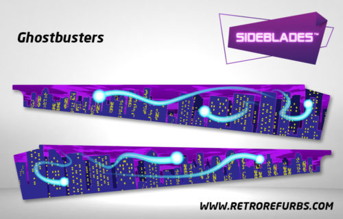 Ghostbusters Pinball SideBlades Inside Decals Sideboard Art Pin Blades Stern Artwork