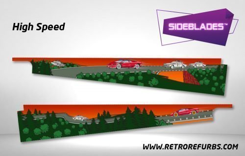 High Speed Pinball SideBlades Inside Decals Sideboard Art Pin Blades
