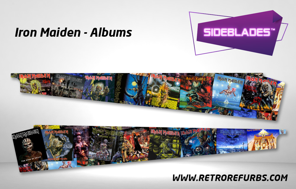 Iron Maiden Albums Pinball SideBlades Inside Decals Sideboard Art Pin Blades Stern Artwork