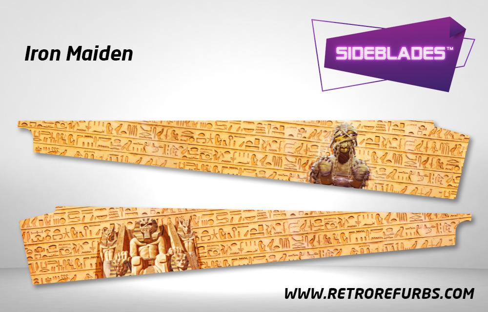Iron Maiden Pinball SideBlades Inside Decals Sideboard Art Pin Blades Stern Artwork