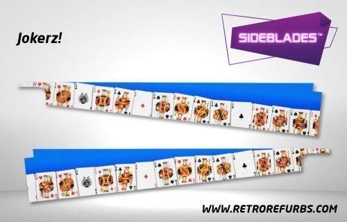 Jokerz Pinball SideBlades Inside Decals Sideboard Art Pin Blades