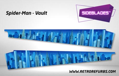 Spider Man Vault Pinball SideBlades Inside Decals Sideboard Art Pin Blades Stern Artwork