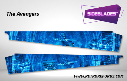 The Avengers Pinball SideBlades Inside Decals Sideboard Art Pin Blades Stern Artwork