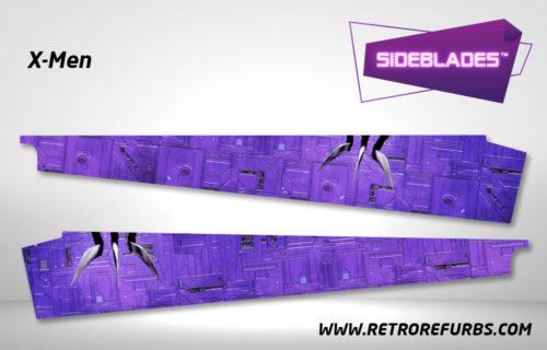X-Men Pinball SideBlades Inside Decals Sideboard Art Pin Blades Stern Artwork