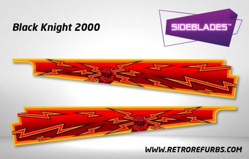 Black Knight 2000 Pinball SideBlades Inside Decals Sideboard Art Pin Blades