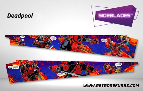 Deadpool Pinball SideBlades Inside Decals Sideboard Art Pin Blades