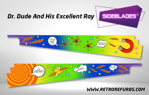 Dr Dude And His Excellent Ray Pinball SideBlades Inside Decals Sideboard Art Pin Blades