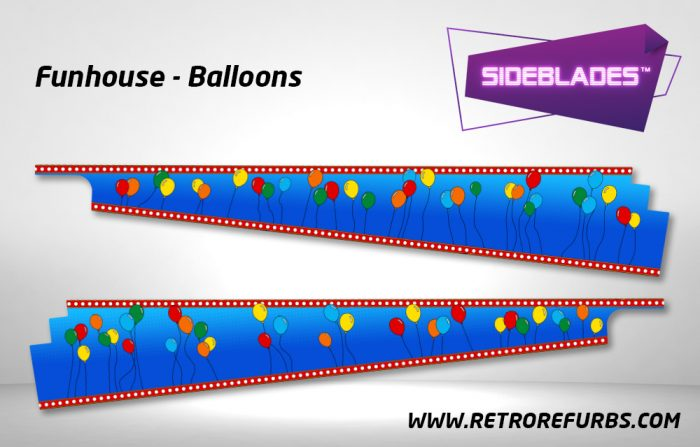 Funhouse Balloons Pinball SideBlades Inside Decals Sideboard Art Pin Blades