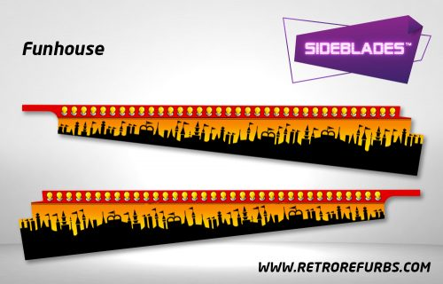Funhouse Pinball SideBlades Inside Decals Sideboard Art Pin Blades
