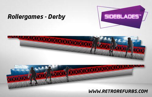 Rollergames Derby Pinball SideBlades Inside Decals Sideboard Art Pin Blades