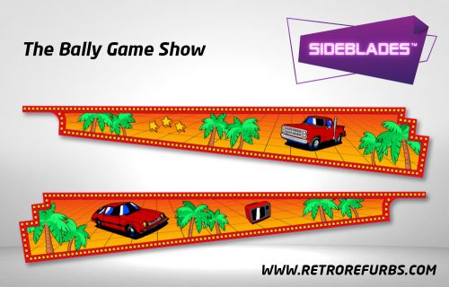 Game Show Pinball SideBlades Inside Decals Sideboard Art Pin Blades