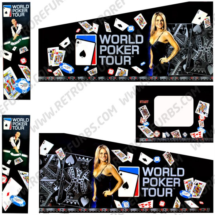World Poker Tour Pinball Cabinet Decals Flipper Side Art Stern