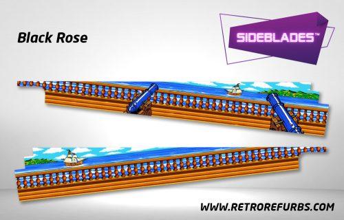 Black Rose Pinball SideBlades Inside Decals Sideboard Art Pin Blades
