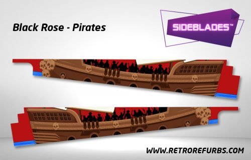 Black Rose Pirates Pinball SideBlades Inside Decals Sideboard Art Pin Blades