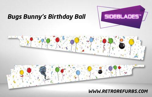 Bugs Bunny's Birthday Ball Pinball SideBlades Inside Decals Sideboard Art Pin Blades