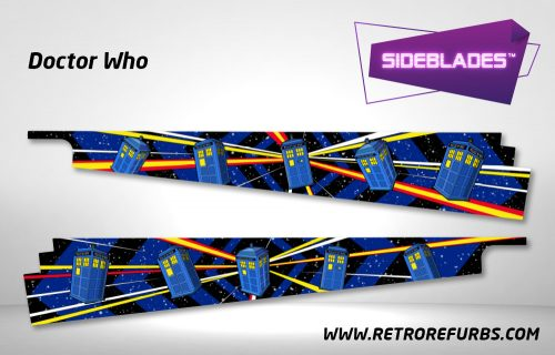 Doctor Who Pinball SideBlades Inside Decals Sideboard Art Pin Blades