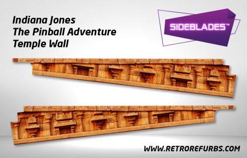 Indiana Jones Temple Wall Pinball SideBlades Inside Decals Sideboard Art Pin Blades