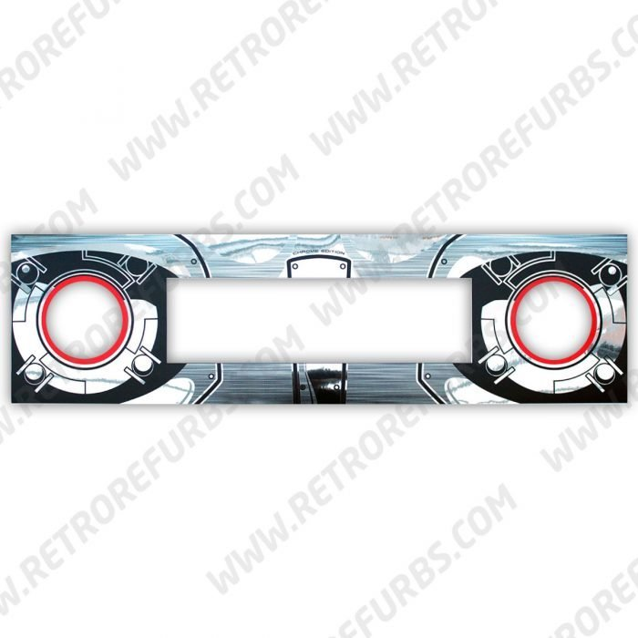 Terminator 2 Chrome Edition Pinball Speaker Panel Cover Decal for DMD Display
