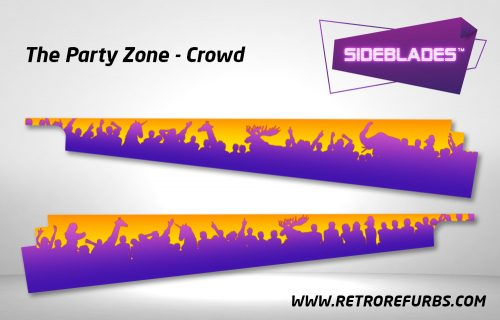 The Party Zone Crowd Pinball SideBlades Inside Decals Sideboard Art Pin Blades