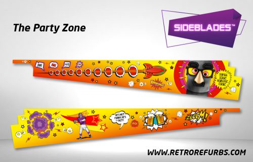 The Party Zone Pinball SideBlades Inside Decals Sideboard Art Pin Blades