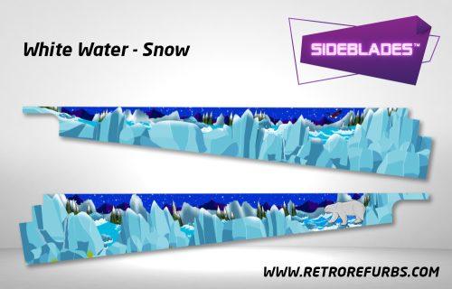 White Water Snow Pinball SideBlades Inside Decals Sideboard Art Pin Blades